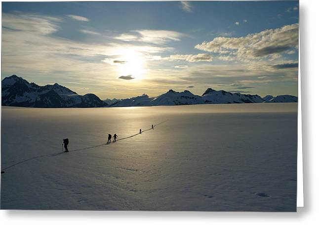 Davidson Glacier - Chilkat Range Greeting Card by Ryan Fell