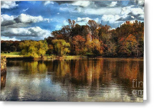 Davidson Mill Pond 2 Greeting Card by Louise Reeves