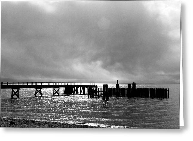 Davis Bay Pier Greeting Card by Robert  Rodvik