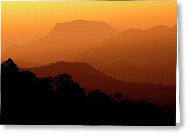 Davis Mountains At Sunrise In West Texas Greeting Card by Larry Ditto