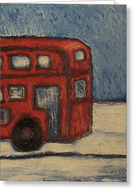 Davis Unitran Bus Greeting Card by Clarence Major