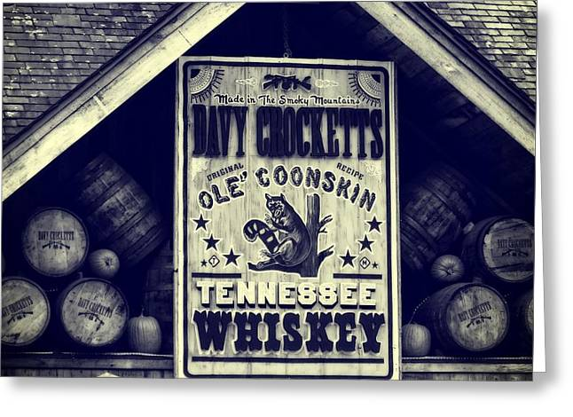 Davy Crocketts Tennessee Whiskey Greeting Card by Dan Sproul