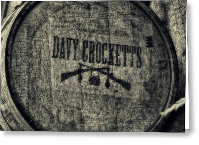 Davy Crocketts Whiskey Greeting Card by Dan Sproul