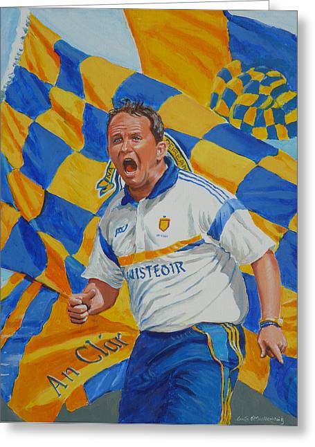 Davy Fitz Hurling Champion 2014 Greeting Card by Tomas OMaoldomhnaigh