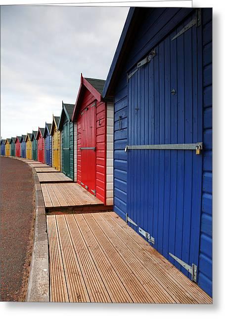 Dawlish Beach Huts Greeting Card by Ollie Taylor