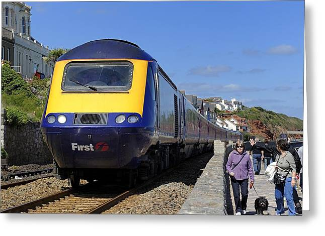Dawlish Sea Front Greeting Card by Craig Yates