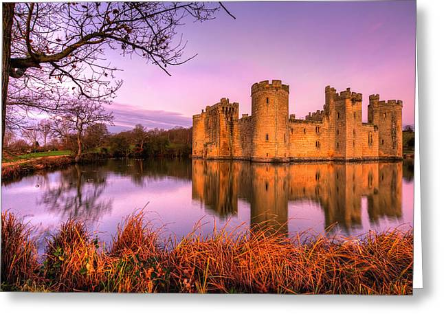 Dawn At Bodiam Greeting Card
