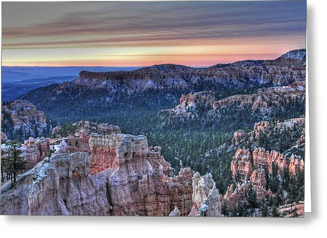 Dawn At Bryce Canyon Greeting Card