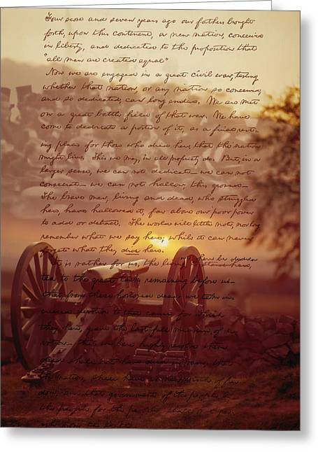 Dawn At Gettysburg Greeting Card