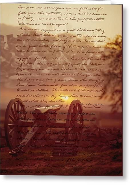 Dawn At Gettysburg Greeting Card by Gary Grayson