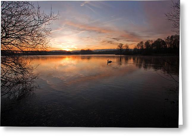 Dawn At Haysden Greeting Card