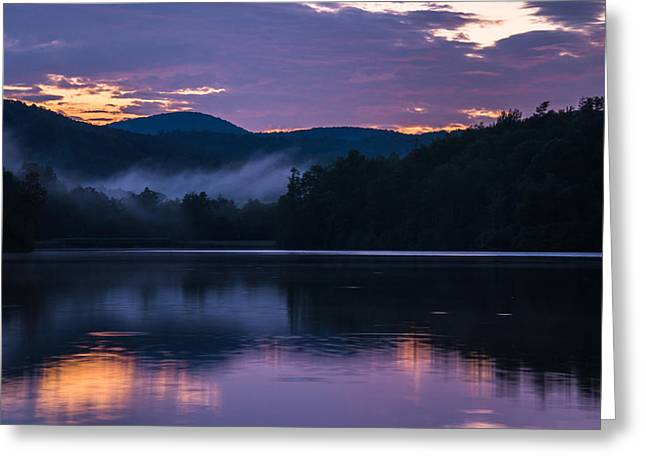 Greeting Card featuring the photograph Dawn At Julian Price Lake by Serge Skiba
