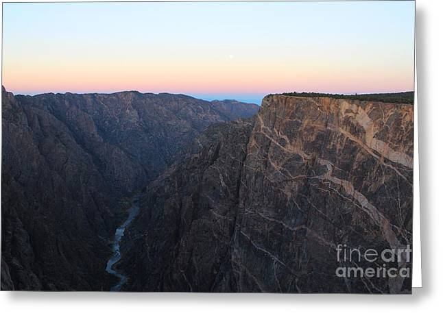 Dawn At The Black Canyon Greeting Card