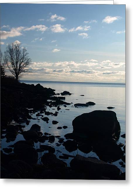 Dawn At The Cove Greeting Card by James Peterson