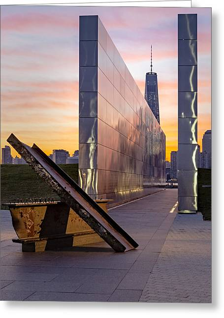 Dawn At The Empty Sky Memorial Greeting Card by Susan Candelario