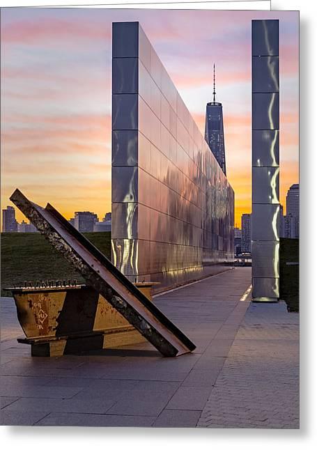 Dawn At The Empty Sky Memorial Greeting Card