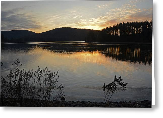 Dawn At The Lake Greeting Card