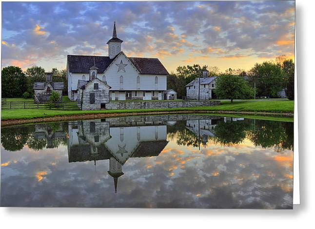 Dawn At The Star Barn Greeting Card
