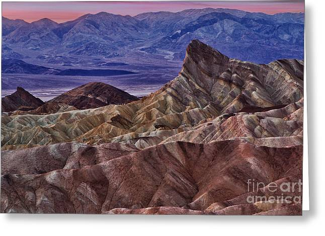 Dawn At Zabriskie Point Greeting Card by Jerry Fornarotto