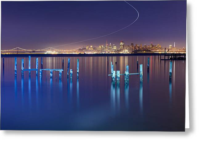 Dawn Colors - Sausalito Greeting Card by David Yu