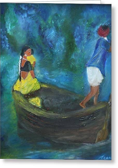 Dawn Crossing Greeting Card by Neena Alapatt