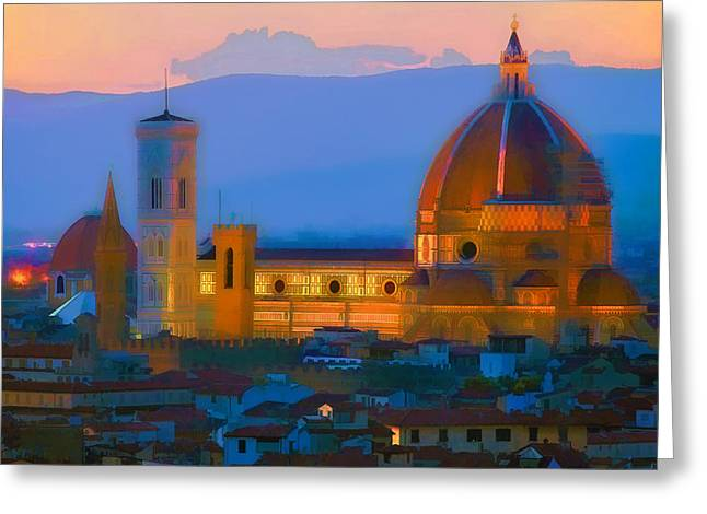Dawn In Florence Greeting Card