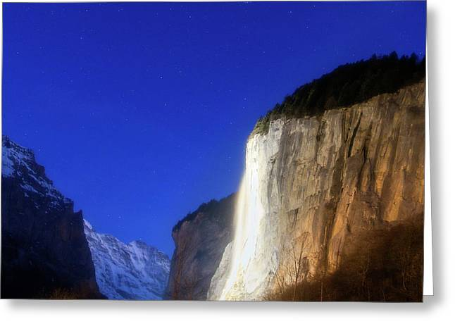 Dawn In Lauterbrunnen Valley Greeting Card by Babak Tafreshi