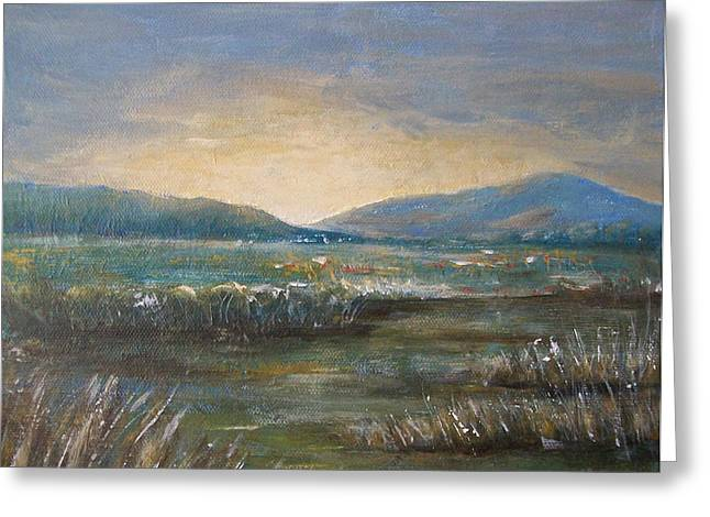 Greeting Card featuring the painting Dawn by Jane  See