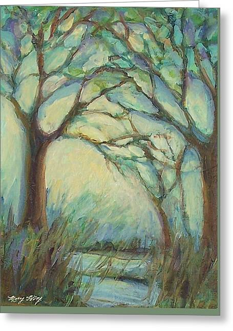 Greeting Card featuring the painting Dawn by Mary Wolf