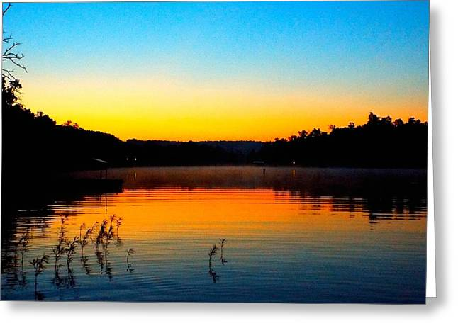 Dawn On Crown Cove Greeting Card by Cindy Croal
