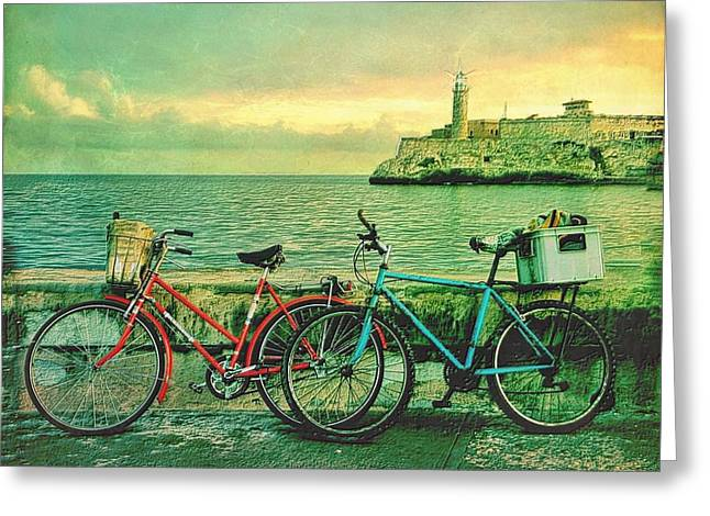 Dawn On The Havana Waterfront Greeting Card