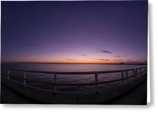 Dawn On The Jetty Greeting Card by Andrew Dickman