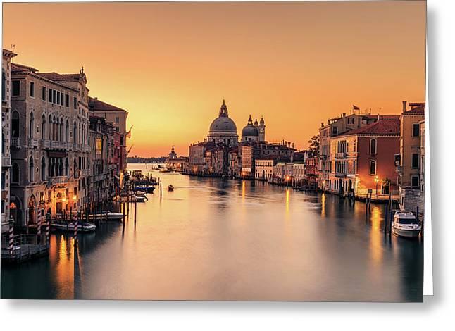 Dawn On Venice Greeting Card