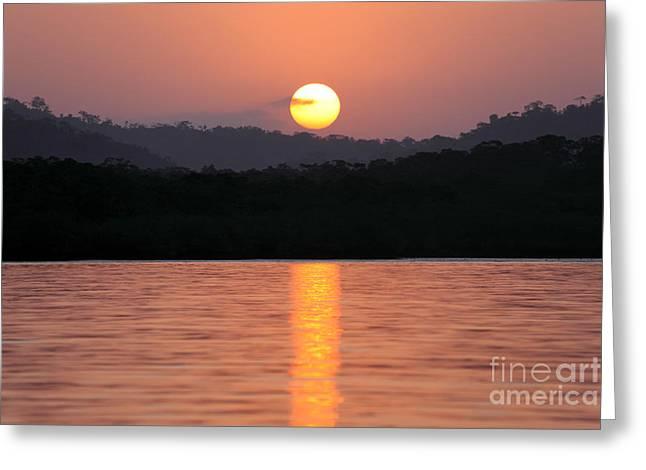 Dawn Over Darien Greeting Card by James Brunker