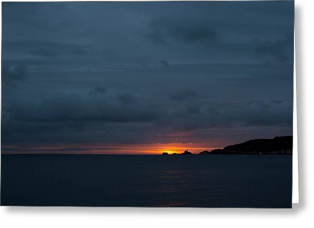 Dawn Over Swansea Bay Greeting Card