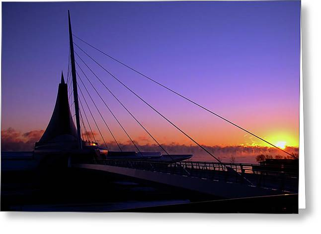 Greeting Card featuring the photograph Dawn Over The Calatrava by Chuck De La Rosa
