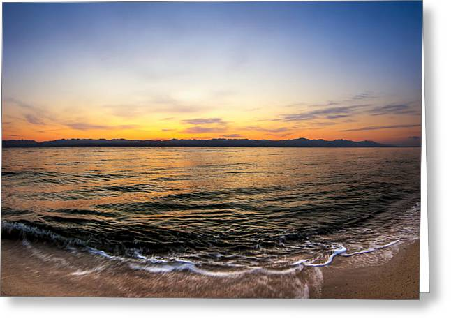 Dawn Over The Red Sea Greeting Card by Mark E Tisdale