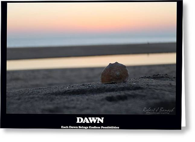 Dawn Greeting Card by Robert Banach