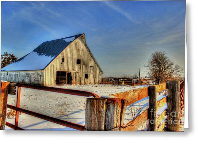 Dawns Barn Greeting Card by Thomas Danilovich