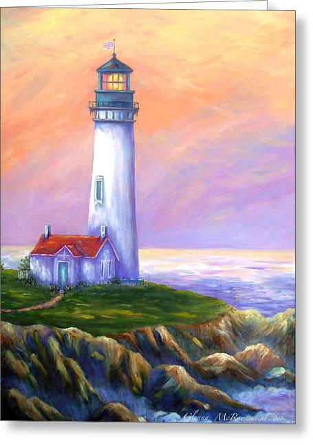 Dawn's Early Light Yaquina Head Lighthouse Greeting Card