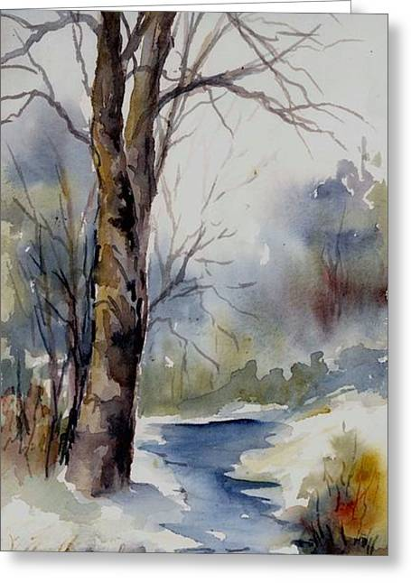 Misty Winter Wood Greeting Card