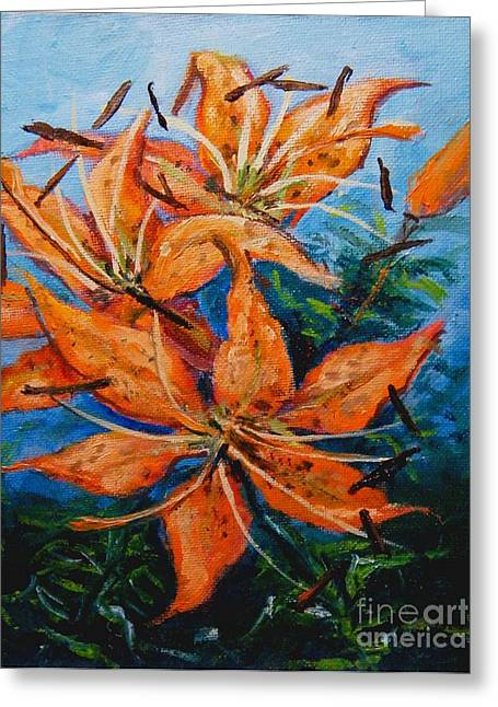 Day 21 Tiger Lily Greeting Card