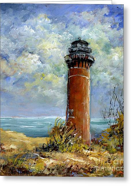 Little Au Sable Point Lighthouse Michigan Greeting Card
