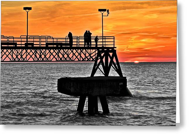 Day And Night Greeting Card by Frozen in Time Fine Art Photography