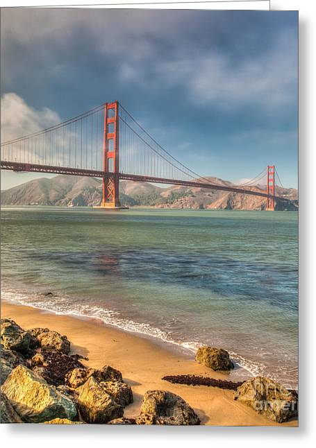 Greeting Card featuring the photograph Day At The Beach by Charles Garcia
