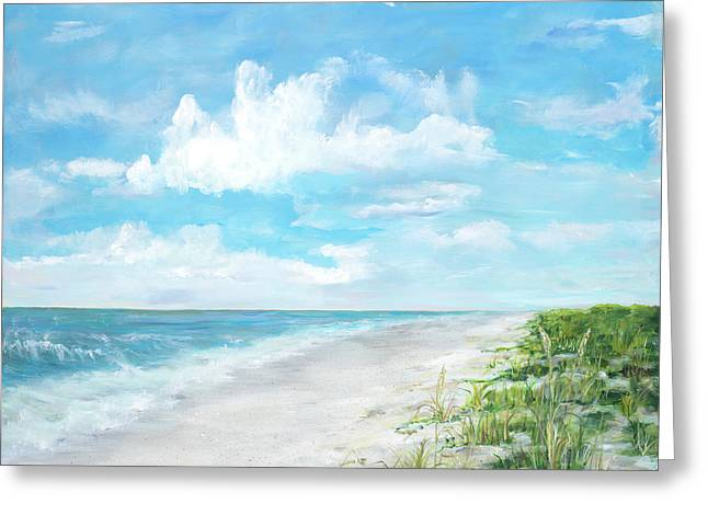 Day At The Beach Square Greeting Card