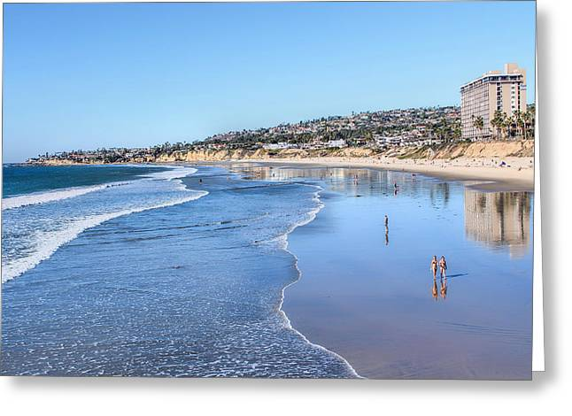 Day At The Beach Greeting Card by Tammy Espino