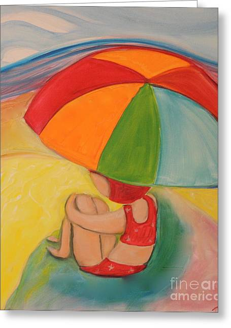 Day At The Beach Greeting Card by Teresa Hutto