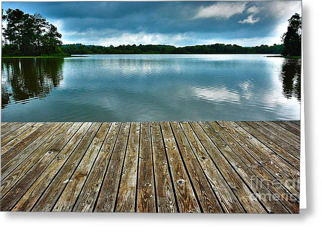 Greeting Card featuring the photograph Day At The Lake by Ken Johnson