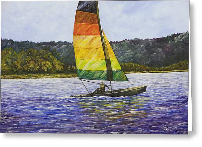 Day At The Lake Greeting Card by Mary Ann King